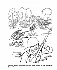D-Day coloring page | World War II Educational Resources for Kids ...