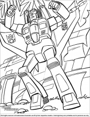 transformers revenge of the fallen coloring pages