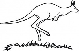 printable kangaroo coloring pages coloring ws - Coloring Ws Coloring Pages