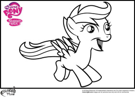 MLP Scootaloo Coloring Pages | Minister Coloring
