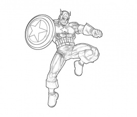 Download Captain America Was Hold Attack Coloring Page Or Print