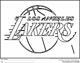 lakers coloring page