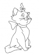 The Marie Cat Coloring Pages | Fantasy Coloring Pages