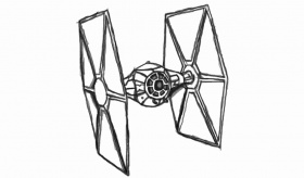 Tie Fighter Drawing at GetDrawings | Free download