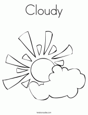 Cloudy Coloring Page - Twisty Noodle