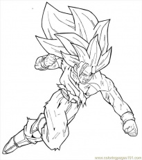 dragon ball z goku super saiyan 2 coloring pages