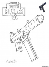 Coloring pages: Print Machine Pistol Fortnite Coloring In ...