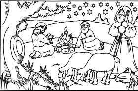Bible Story Coloring Pages For Kids Page 1