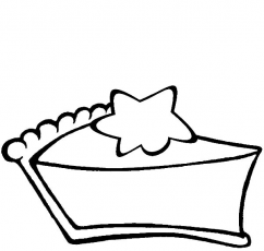 Star Cake coloring pages