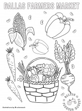 DFM Coloring Sheets - Dallas Farmers Market