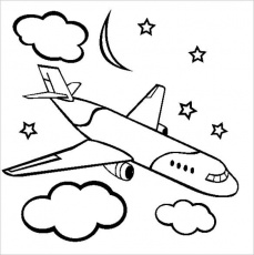 18+ Airplane Coloring Pages - PDF, JPG | Free & Premium Templates