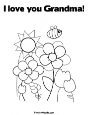 Birthday Grandma Coloring Pages - Coloring Pages For All Ages