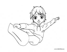 Snowboarding boy coloring pages - Hellokids.com