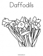 Daffodils Coloring Page - Twisty Noodle
