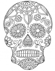 Coloring Page ~ Sugar Skull Coloring Pages Sea Life Colour Paper ...