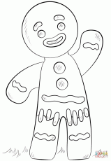Coloring Pages Gingerbread Man Story - Coloring Page