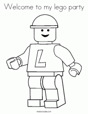 Welcome to my lego party Coloring Page - Twisty Noodle