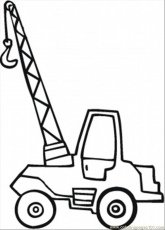 Little Crane Coloring Page - Free Special Transport Coloring Pages :  ColoringPages101.com | Coloring pages, Coloring pages for kids, Truck  coloring pages