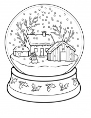 Winter coloring pages snow globe - ColoringStar