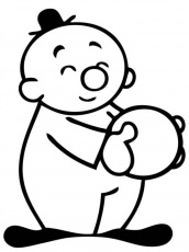 Bumba Bumbalu Holding a Ball Coloring Pages : Batch Coloring