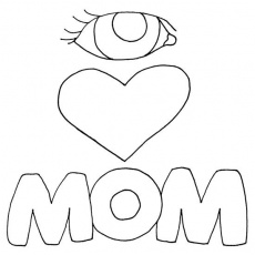 Worksheet. I Love You Mom Coloring Page  Coloring Home