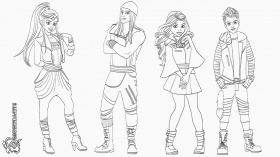 Disney Descendants Coloring Pages | Database Coloring Page Ideas