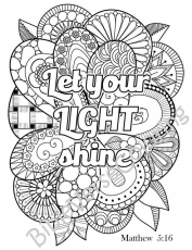 5 Bible Verse Coloring Pages Pack 2 Simple by BibleVerseColoring ... -