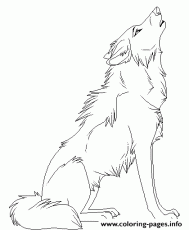 Print cartoon animal howling wolf see9b coloring pages | Wolf colors,  Animal drawings, Anime wolf