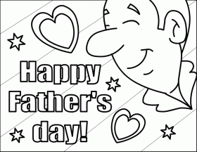 Father's Day Coloring Pages | Bumblebees R Us