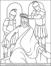 Sorrowful Mysteries Coloring Pages - The Catholic Kid