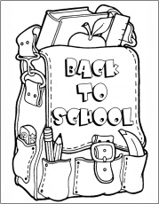 back to school coloring pages for kids