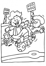 Soccer coloring pages 26 / Soccer / Kids printables coloring pages