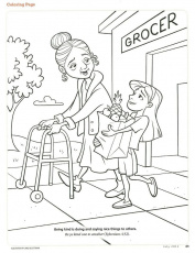 Kindness Coloring Page | Fruits of the Spirit - Kindness