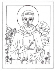 St Francis Of Assisi Colouring Pages Page 3 38669 Saint Francis Of St Francis Of Assisi Coloring Page