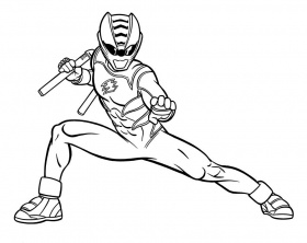 coloring pages of power rangers jungle fury