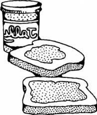 food coloring pages peanut butter jelly sandwich coloring page
