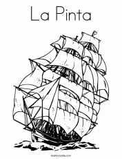 nina ship colouring pages nina pinta santa maria