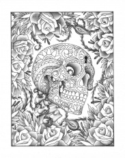 15 Pics of Beautiful Skull Coloring Pages - Printable Adult ...