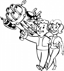 Download Hd Wallpapers Fallout 4 Coloring Sheets Wallpaper Desktop - Vault  Boy PNG Image with No Background - PNGkey.com