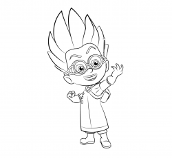 Evil Young Mad Scientist from PJ Masks Coloring Page