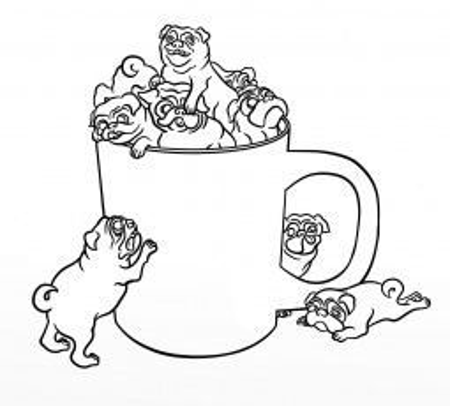 Christmas Pug Coloring Pages Printable Pug Coloring Pages Kids