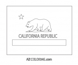 California Flag Coloring Page  Coloring Home