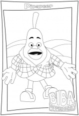 Biba farm coloring pages