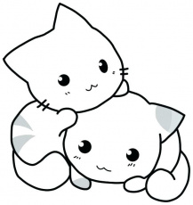 Kitten Coloring Page Pages Cute Kittens – inetix.pro