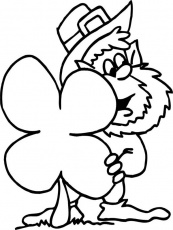 four leaf clover coloring page | Coloring Page