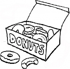 Donut Coloring Page at GetDrawings.com | Free for personal ...
