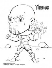 New Coloring Page: Thanos | Vanquish Studio