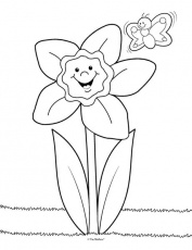 Daffodil Coloring Page - The Mailbox | Preschool coloring pages ...