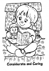 free coloring pages manners considerate and caring