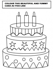 big cake printable coloring pages | Coloring Pages